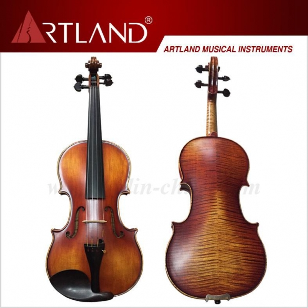 China Nice Flamed moderate violin outfit(MV150)