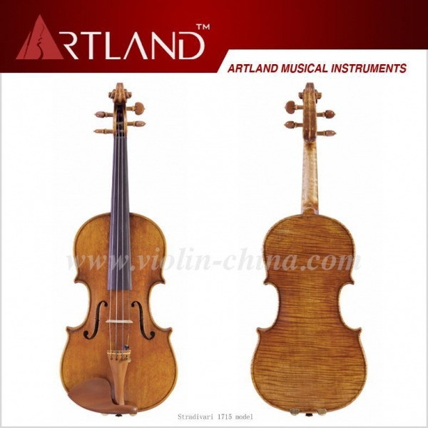 China Stradivari 1715 Model Violin Solo Violin High Grade Antique Model Violin