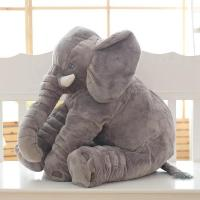 Stuffed Elephant Plush Pillow Cushion Kid Toy 24 Inches