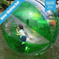 Buy cheap Green Striped Inflatable Water Walking Zorb PVC Ball Rolling Ball Tizip Zipper 2M from wholesalers