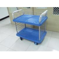 Quality Multi Function Folding Storage Cart On Wheel With Steel Frame / Plastic Plathform for sale