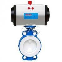 Quality Diaphragm Valve Pneumatic Wafer Fluorine Lined Butterfly Valve for sale