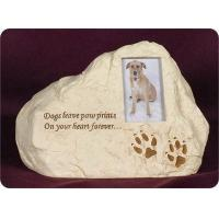 Pet Urn, Rock - Dogs Leave Paw Prints On Your Heart Forever