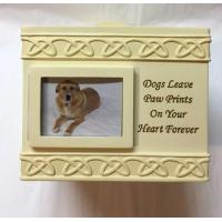 Pet Urn, Box - Dogs Leave Paw Prints On Your Heart Forever