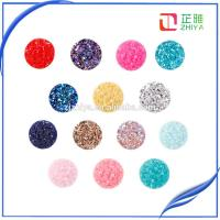 China 12mm Flat Back Resin 50pcs/lot Electroplated Druzy Cabochons Wholesale on sale
