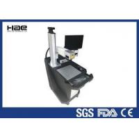 China Black Color Desk Laser Marking Equipment , Industrial Laser Marking Machines on sale