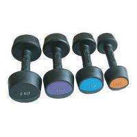 Buy cheap Fitness Diagonal Head Rubber Coated Dumbbells from wholesalers