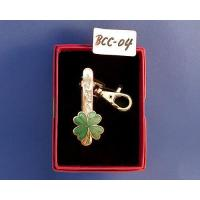 Quality Key chain Cloisonne four-leaf clover keyring clip for sale