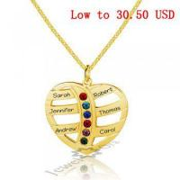 China Best Dropship Product*Personalized 925 Sterling Silver Heart-Shaped Necklace#NE101599 on sale