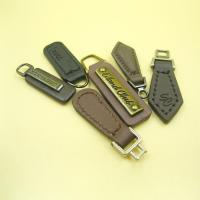 Buy cheap Custom Logo Plating Roll Brass Leather Zipper Pulls with Metal from wholesalers
