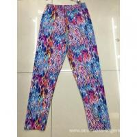 China Seamless Summer Leggings Ladies Knitted New Pattern Printed Panties Trousers on sale