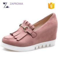 China 2017 Summer Spring Design China Wholesale Good Quality Woman High Heeled Sneakers on sale