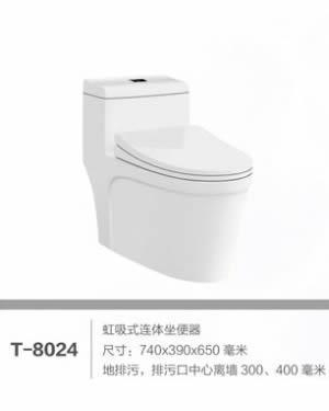 Buy T-8024 siphonic one piece toilet at wholesale prices