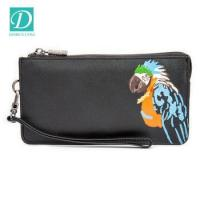 Buy cheap Wholesale 2 Color Parrot Printed Lady Women's Leather Clutch Wallet Purse from wholesalers