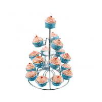 Quality 18 Cups Wire Cake Holder With Chrome Plated for sale