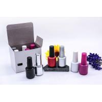 Buy cheap 15ml Empty Color Painting UV Gel Nail Polish Bottles with Brush and Gold Cap from wholesalers