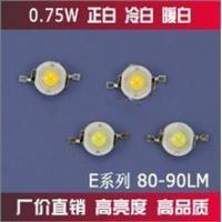 Buy cheap High power LED 80-90LM white / warm white / cool white E8 0.75W from wholesalers