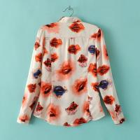 China Women White Polyester Blouse on sale