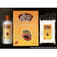 Quality 1 set HBC Natural Body Recipe Brand Papaya Skin Lightening Powder with Natural Extracts for sale