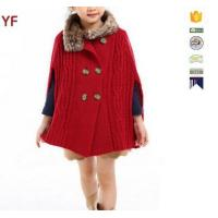 Quality Latest Wool Sweater Fur Poncho Designs For Grils for sale