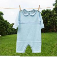 Quality blue set baby baby romper set with hat for sale