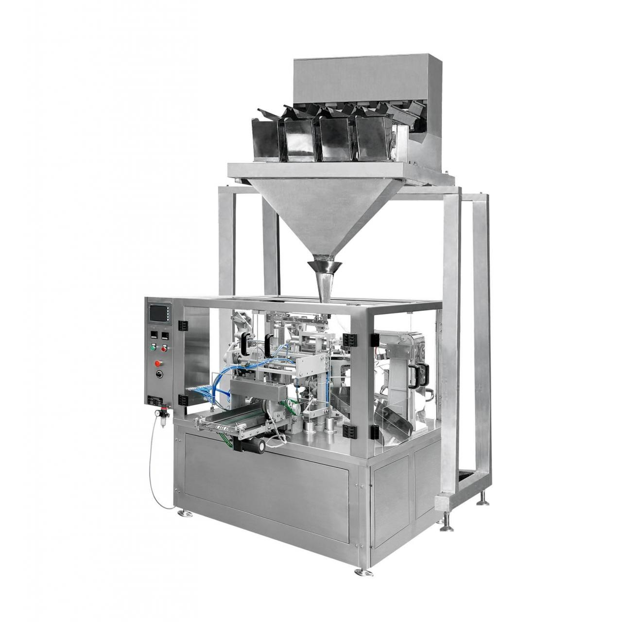 China Automatic Rotary Pouch Filling Machine & Four Head/Six Head Weighing Machine (XFG) on sale
