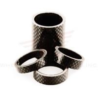 Quality Wheels Manufacturing 1-1/8-inch Carbon Spacer (bag Of 5), 2.5mm for sale