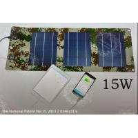 China The HI-EFF 15W Two Output Ports Portable Folding Solar Powered USB Charger Panel on sale