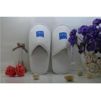 Quality Hotel Embroidery Logo Eva Sole Good Quality Velvet Slippers for sale