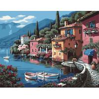 China Scenery DIY Paint by Number Canvas Painting Kit for Adults on sale