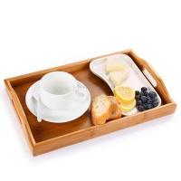 Quality Factory Made LFGB Certificated Bamboo Serving Tray Natural for sale