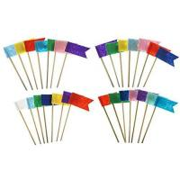 Shxstore Colorful Flag Cake Cupcake Toppers Picks for Decorations, Set of 28