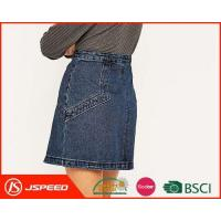 Quality OEM Ladies Mid Waist Denim Skirts with Stud Embellished Pockets Are Welcome for Woman for sale