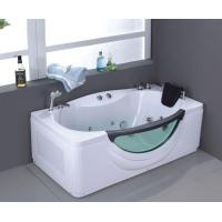 China Whirlpool Rectangle Freestanding Massage Portable Spa Shower Bath Tub on sale