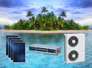 China ACDC On Grid Hybrid Solar Air Conditioner Duct Type Space-saving