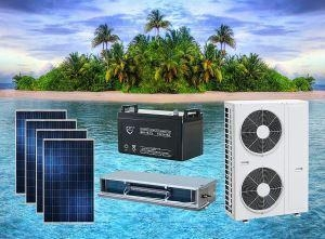China ACDC Hybrid Solar Air Conditioner Concealed Duct Type