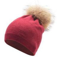 China 2017 Newest European Style Woolen Knit Women Fur Hat Winter Fur Ball Knitted Hats on sale