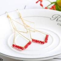 Buy cheap Simple Double Diamond Metal Frame Ear Hook,simple Double Row Red Rice Ball Ear Hook from wholesalers