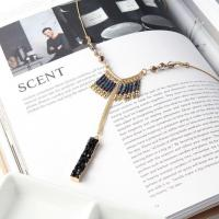 Buy cheap Very Fashion And Simple Tassel Natural Stone Stick Pendant Necklace from wholesalers