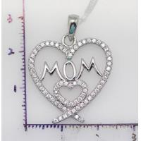 China Sterling silver pendant 925 Sterling silver heart shaped necklace|925 silver on sale