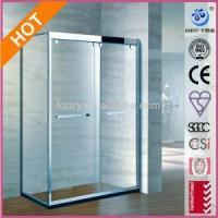 Quality Bypass Sliding Shower Door with Handle and 3/8-Inch Crystal Clear Glass (KT5215) for sale