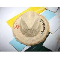Quality Women Summer Sun Hat Fashion Burr Edge Letter Embroidery Raffia Panama Beach Hats for sale