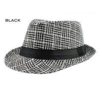 Quality Trendy Unisex Fedora Trilby Cap for Women Men Summer Beach Sun Straw Panama Hat for sale