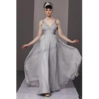 China Silver Low V-Neck Spaghetti strap Backless Ball Gown BY195[on sale] on sale