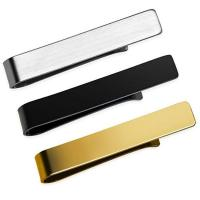 Quality custom logo metal men tie bar clips with gift box for sale