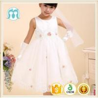 Buy cheap kids party dress wedding dress appliqued flower dress from wholesalers