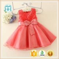 Buy cheap new fashion children baby girls dresses celebrated flower red girl school party dress for dance from wholesalers