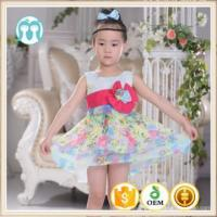 new customized Girl Dress 2-16 Years Baby Girls Pattens Summer Style Floral Print Cotton