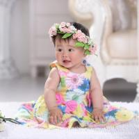 Quality 2015 New Summer Girls Dress sun flower Baby Casual Paty Dress for 2-6 Years Kid Dress for sale