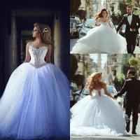 Quality arabic Luxury Bridal Ball Gowns Crystal Wedding Dresses Z5041 for sale
